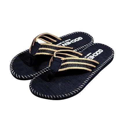 60d28caf4bc1b Men s Flip SHY Summer Stripe Flip-Flop Sandal Sport Shoes Sandals Male  Slipper (Black