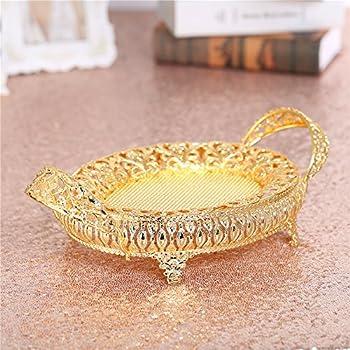 Amazon Com Gold Centerpiece Decorative Bowl Plate Dish