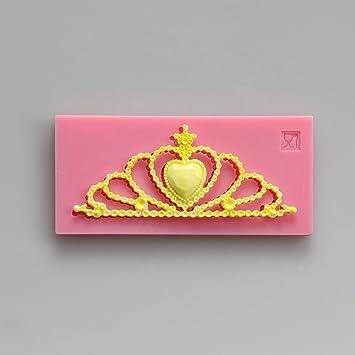 Pinkie - Corona de reina molde de gel Fondant Jabón Molde salero Escultura molde DIY molde de silicona se puede al por mayor: Amazon.es: Hogar