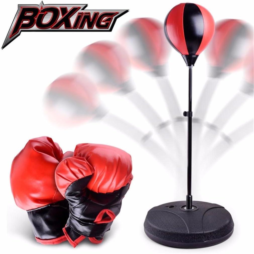Tiean新しいDIY子供トレーニングフィットネスボクシングサンドバッグパンチバッグおもちゃ マルチカラー