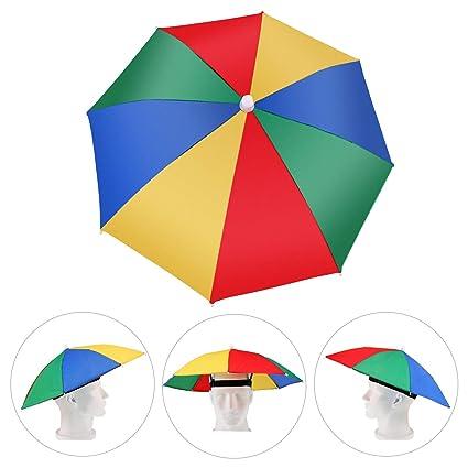 bas prix f1aeb 845b0 Amaoma Chapeau Parapluie de Tete Casquette Parasol Anti-UV ...