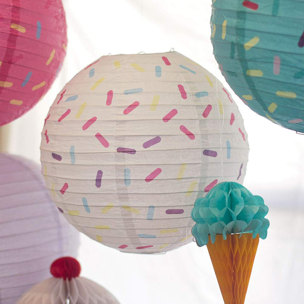 Just Artifacts 12inch Hanging Paper Lanterns (Sprinkles Pattern, 3pcs) by Just Artifacts (Image #7)