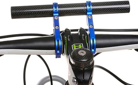 hunpta - Soporte de linterna para manillar de bicicleta, azul ...
