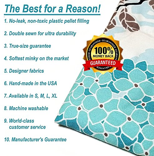 Designer Weighted Blanket for kids (or adult) | Dozens of cute styles in many sizes | Gravity blankets may help relieve anxiety, stress & insomnia | Style - Study Puppy | Flannel - 6 lbs by The Swanky Stitchery (Image #9)