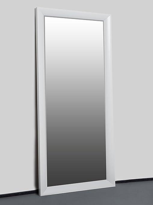 Specchio Da Parete Grande Con Cornice.Mo Living Specchio Da Parete Bianco 150 X 60 Cm Specchio Con Cornice