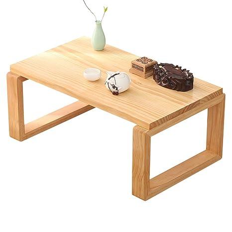 Amazon.com: Mesa de café tatami japonés madera maciza bahía ...