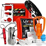 Search : LIVABIT Dual Pack First Response Safety Tool Emergency Kit Venom Sting Extractor Pump & SOS Survival Multi Tool Pack