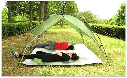 JameStyle26 Picnic Camping Blanket Aluminium Mat Garden Outdoor Beach Blanket Waterproof Underground Aluminium Blanket XXL 200 x 200 cm