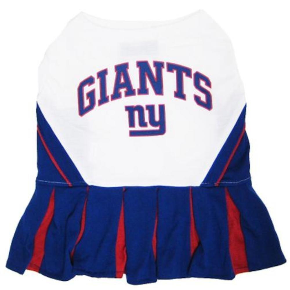 Pets First NFL New York Giants Dog Cheerleader Dress, X-Small