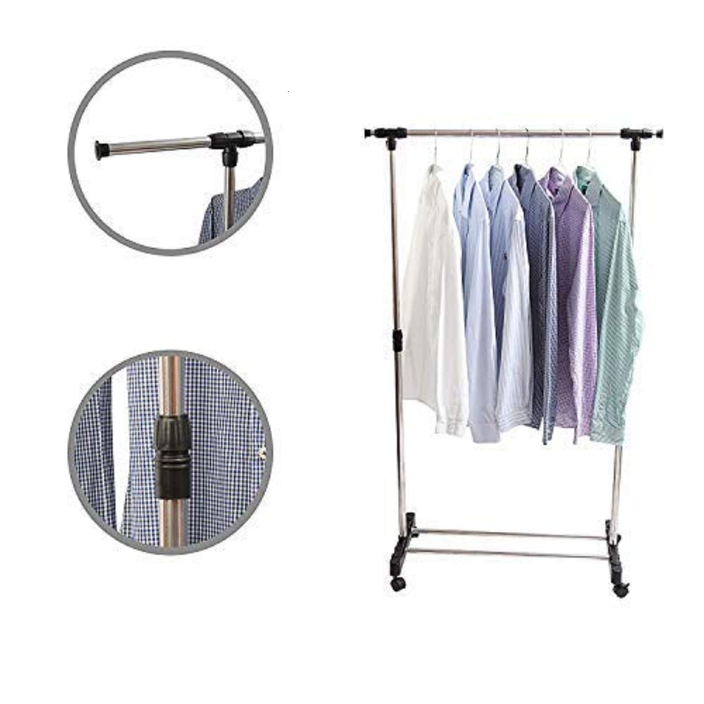 Kurtzy Clothes Hanger Garments Adjustable Laundry Dryer Rack Rail Organizer
