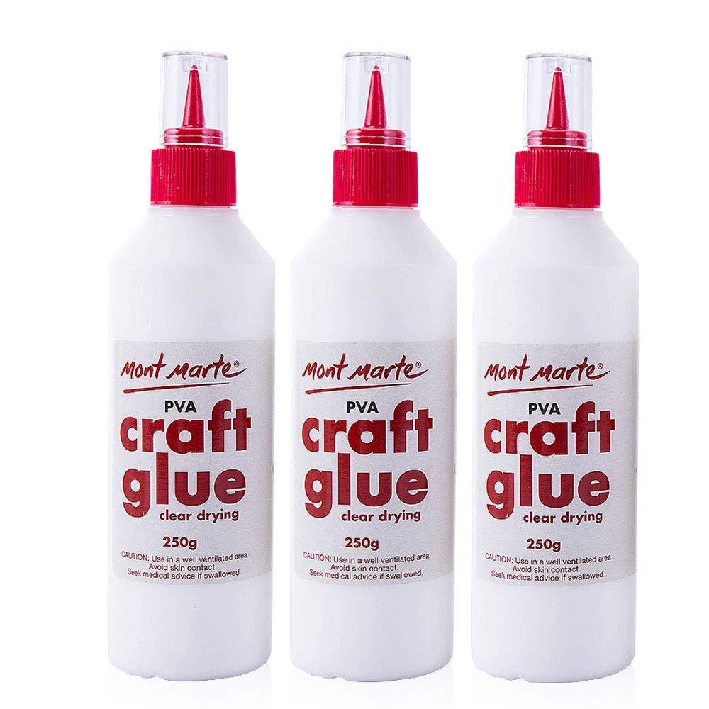 Mont Marte PVA Craft Glue Fine Tip 250g-3 Pack