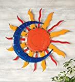 Handcrafted Sun And Moon Metal Wall Art