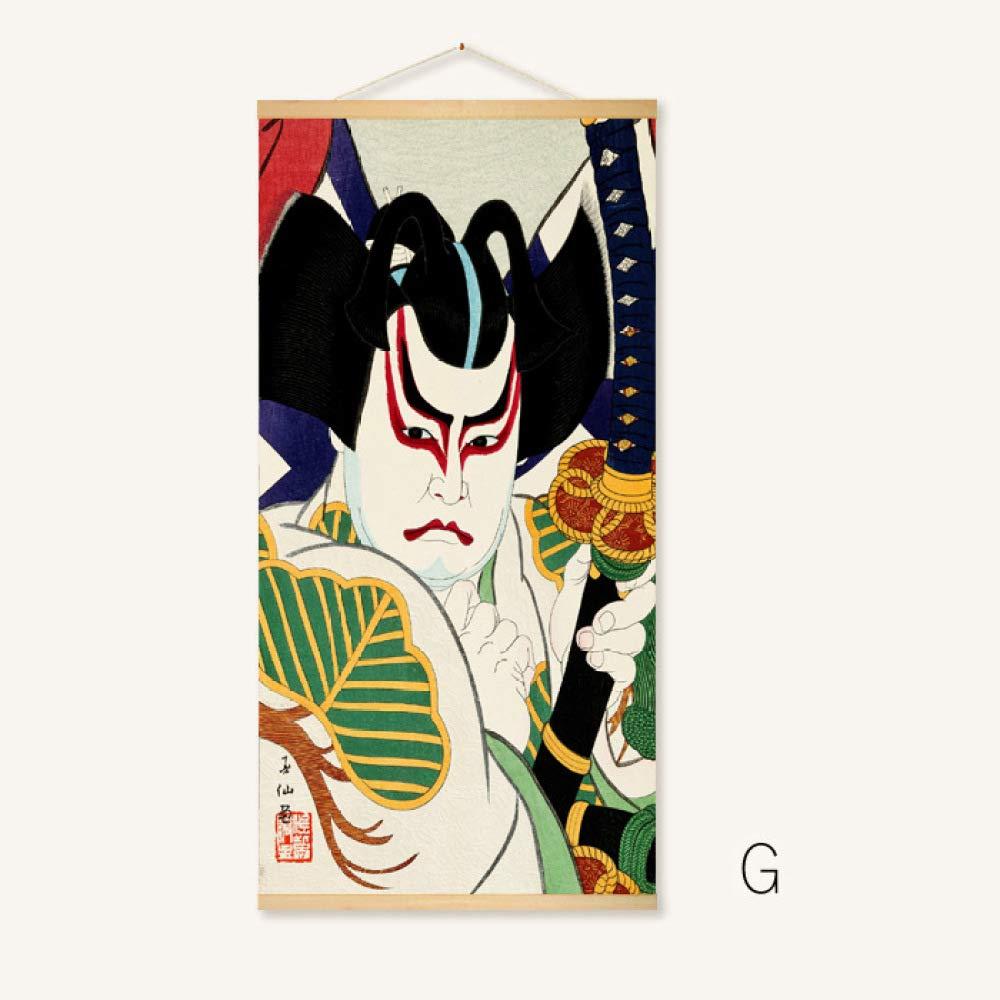 Pintura de sala de estar, tienda japonesa, pintura de pergamino ...