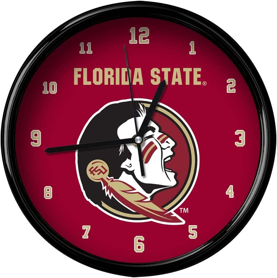 One Size The Memory Company NCAA Florida State University Official Black Rim Basic Clock Multicolor