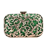 Fawziya Crystal Bird Purse Bling Out Clutch Evening Bags And Clutches For Women-Green
