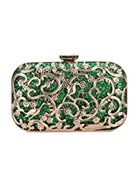 Fawziya Bird Glitter Hard Shell Clutch Purse Fashion Clutches For Women Evening Bag