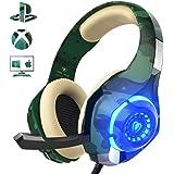 Cuffie Gaming per PS4 PC Xbox One, Beexcellent Noise Cancelling Auricolare con Microfono e Controllo Volume Jack 3.5mm per Xbox One S, Portatili, Mac, Tablet
