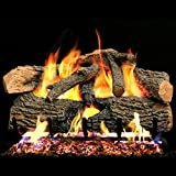 Peterson Real Fyre 24-inch Charred Evergreen Oak With Vented Natural Gas G52 Burner