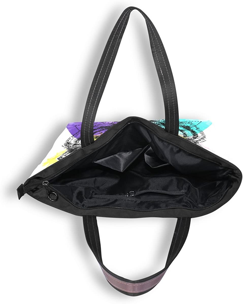 My Daily Women Tote Shoulder Bag Colored Tiger Face Handbag