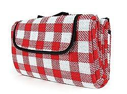 "Camco 42803 Picnic Blanket (51"" X 59"", Redwhite)"