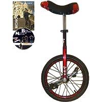 Monocycle Dodo 16 pouces (40cm) ROUGE pour les enfants à partir de 7 ans + DVD offert