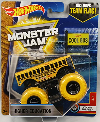 2017 Hot Wheels Monster Jam 1 64 Scale Truck With Team Flag   Higher Education