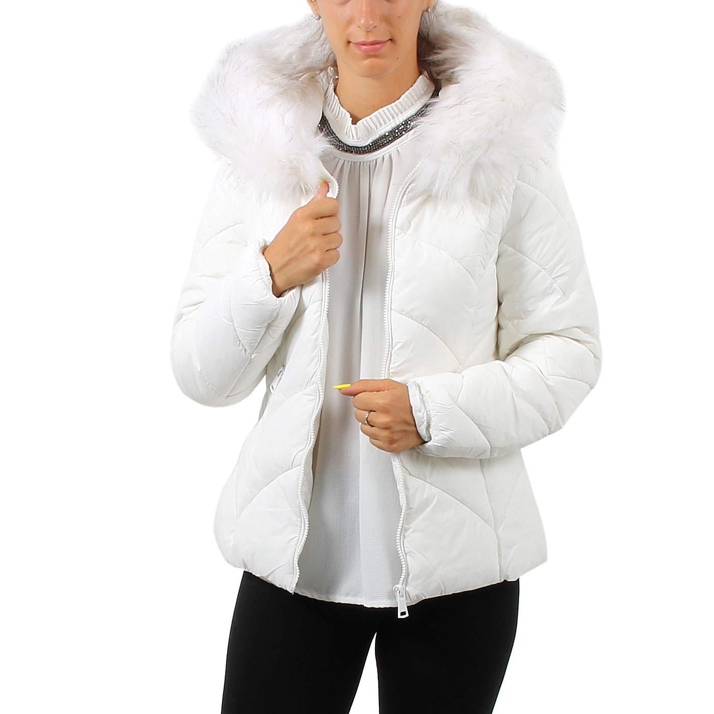 B Style Giubbotto da donna con cappuccio e pelo (medium