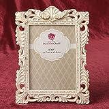 24 Antique Ivory Brushed Gold Leaf 5 X 7 Frames Wedding Favors