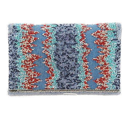 Crossbody Denim MARY Handbag Windswept FRANCES Envelope Beaded Style 4twIqwxU