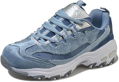 ASTAOT Blancas Zapatillas De Deporte para Mujer Amortiguación Zapatillas para Correr Que Aumentan La Altura Zapatillas Deportivas Cómodas para Caminar Talla 42,7: Amazon.es: Deportes y aire libre
