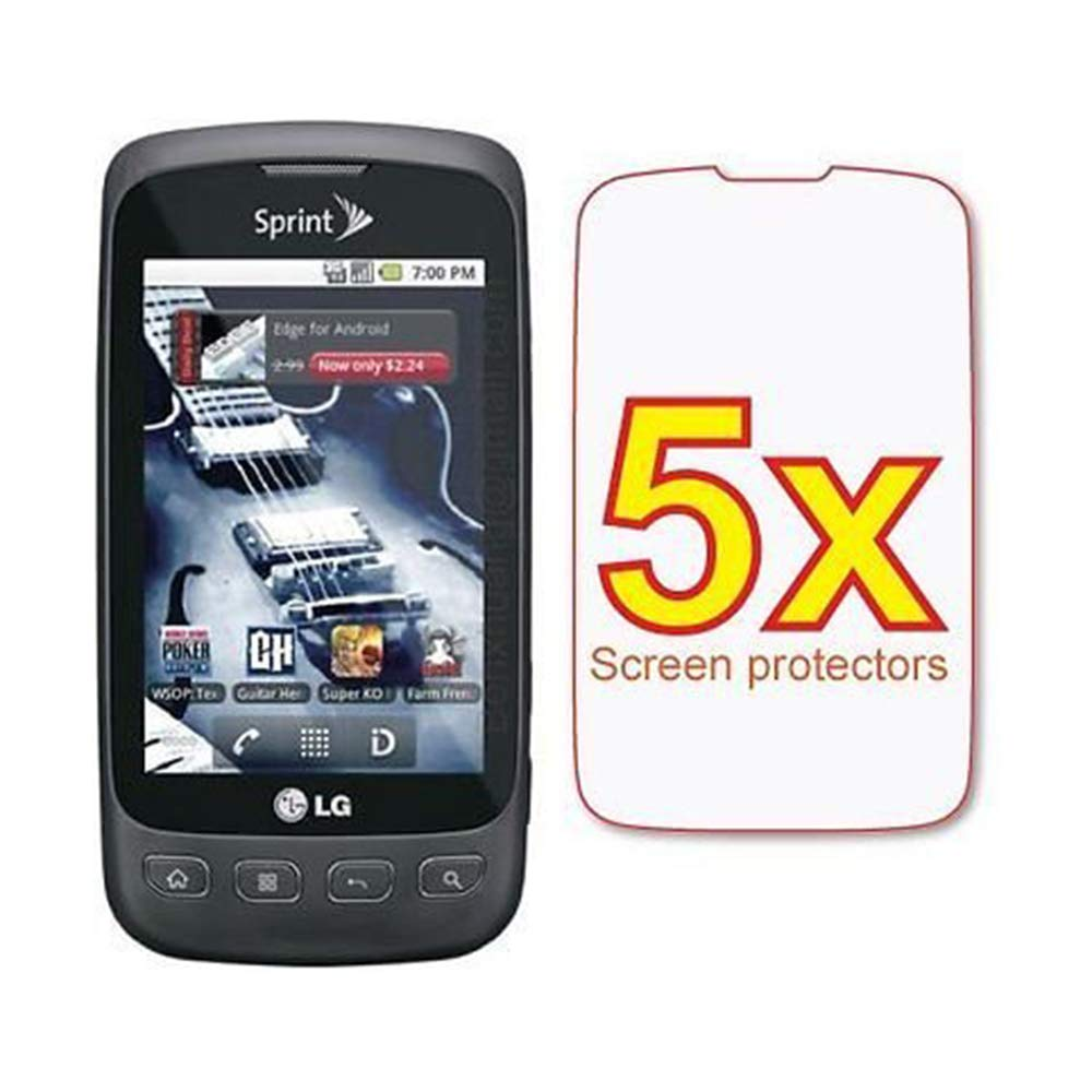5X LG Optimus S LS670 Premium Clear LCD Screen Protector Shield Cover Guard Film Kit by Generic