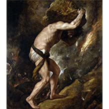Oil painting 'Titian [Vecellio di Gregorio Tiziano] Sisyphus 1548 49 ' printing on Perfect effect canvas , 12 x 14 inch / 30 x 35 cm ,the best Kitchen artwork and Home artwork and Gifts is this Beautiful Art Decorative Prints on Canvas