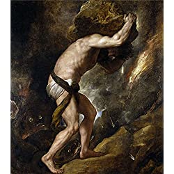 Oil Painting 'Titian [Vecellio Di Gregorio Tiziano] Sisyphus 1548 49', 16 x 18 inch / 41 x 46 cm , on High Definition HD canvas prints is for Gifts And Basement, Hallway And Powder Room Decoration