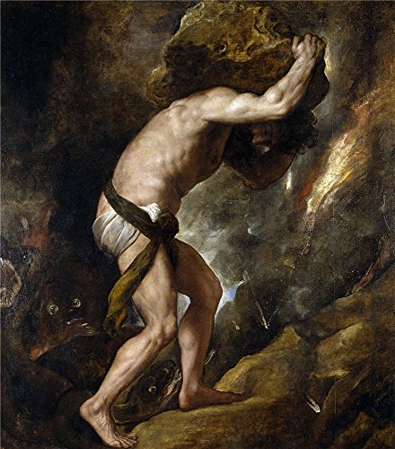 Oil Painting 'Titian [Vecellio Di Gregorio Tiziano] Sisyphus 1548 49', 30 x 34 inch / 76 x 87 cm , on High Definition HD canvas prints is for Gifts And - Coupon Georgia Shades