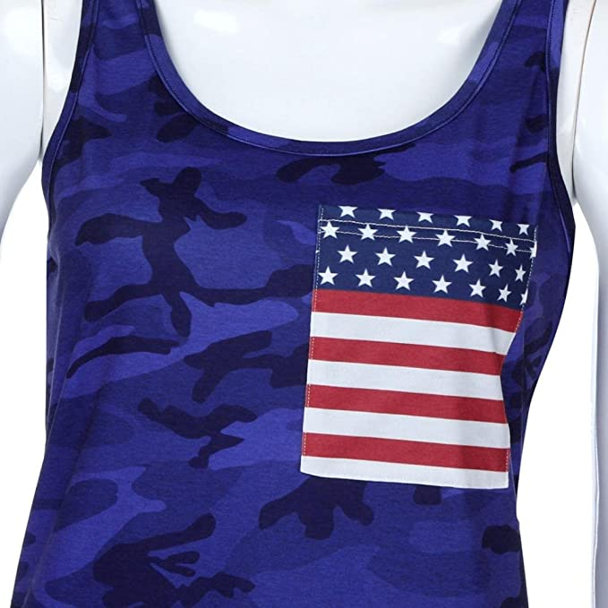 Amazon.com: Tank Tops, FORUU Womens Camouflage American Flag 4th of July Camisole Vest Tee: Clothing
