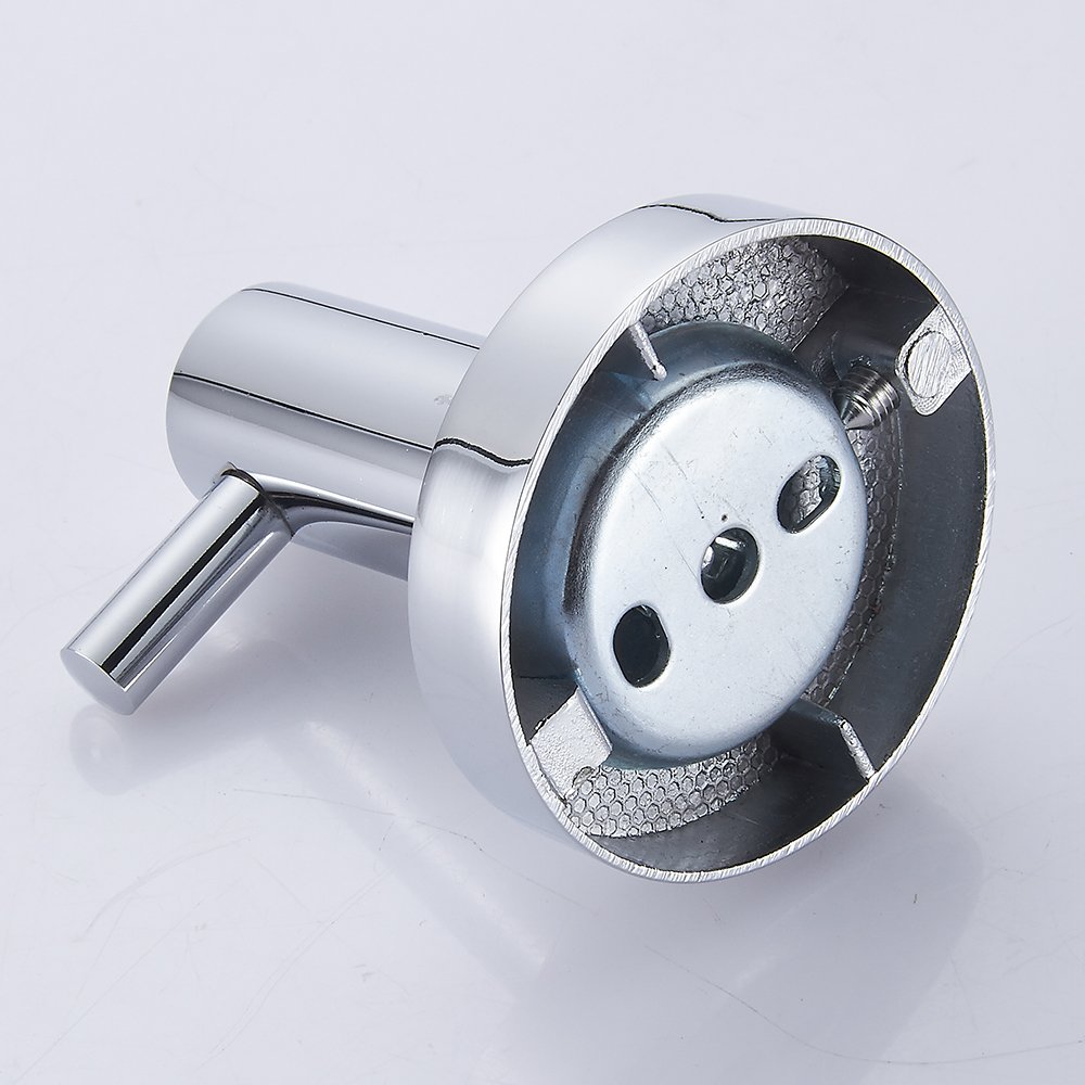Towel Robe Hook Luxury Round Stainless Steel Wall Mounted Single Coat Hat Hanger for Bathroom Kitchen Lavatory Closets