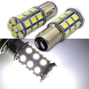 Ruiandsion BA15D 1142 1078 - Bombillas LED (2 unidades, 6000 K, 6 V, 5050, 27 SMD, luz de circulación diurna): Amazon.es: Coche y moto