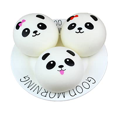 Slow Rising Panda Cream Scented Kawaii Squishies Toys for Kids Adults, Lovely Stress Relief Toy (4CM): Clothing