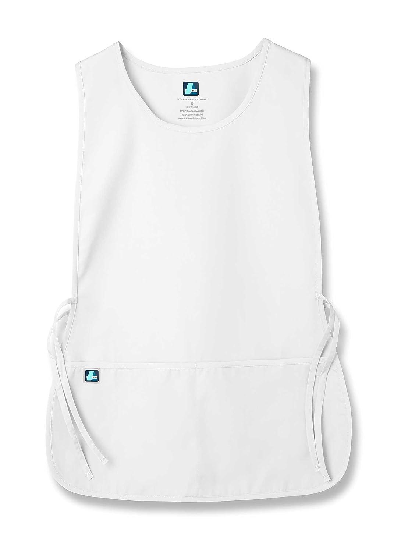 Adar Uniformi Unisex Grembiule da Lavoro Con Tasche per Lavori in settori Bellezza & Medicina - 702 Colore: WHT | Dimensione: Regular 702WHTR