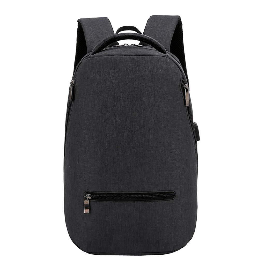 36-Dianyejiancai メンズ ファッション バックパック メンズ パーソナリティ 多機能 大容量 学生バッグ USB バックパック (カラー:ブラック、サイズ:M) B07S6FW6ZB
