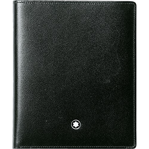 Mont Blanc Meisterstuck Wallet - Montblanc Meisterstuck 5CC Black Leather Wallet 15499