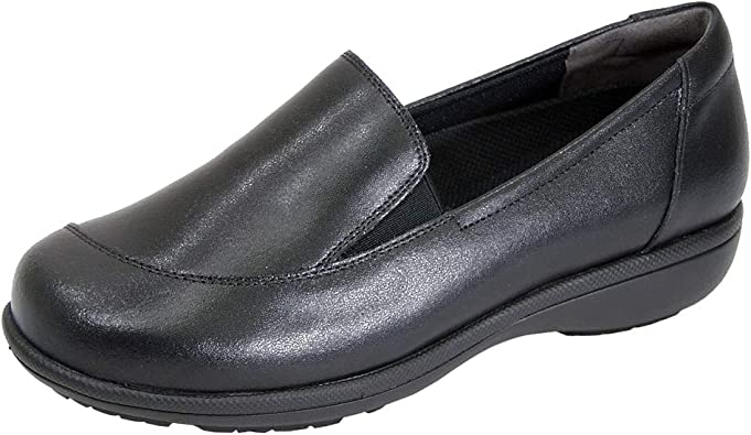 Wide Width Slip-On Leather Loafers