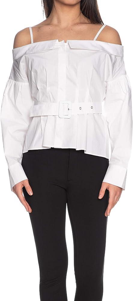 Guess - Camisa de manga larga para mujer, color blanco Bianco L: Amazon.es: Ropa y accesorios