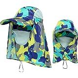 Andoer Chapéu com viseira de caminhada esportiva ao ar livre Proteção UV Proteção do rosto, pescoço, pesca Boné de proteção s