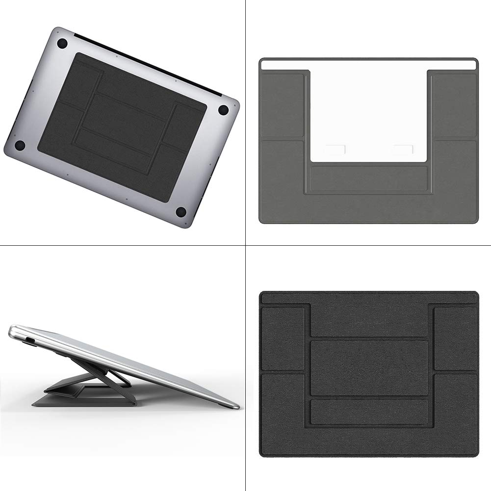 Pemsem Invisible Laptop Stand Portable - Dual-Angle Adjustable Lightweight Computer Stand Compatible with MacBook iPad Tablet