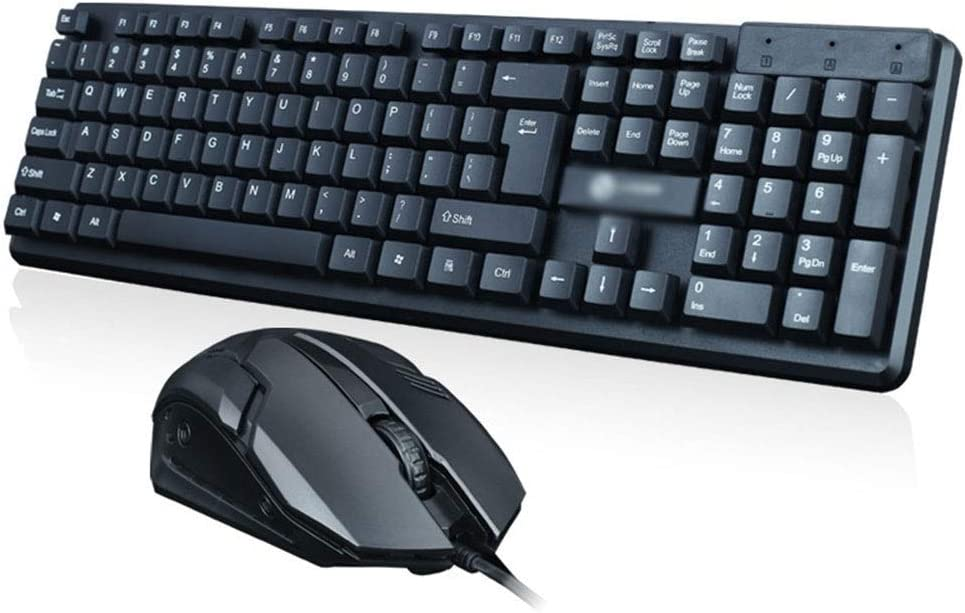 GUODLIN Keyboard Mouse Set Color : T13 Wired Home Office USB Waterproof Mute Computer Keyboard Black