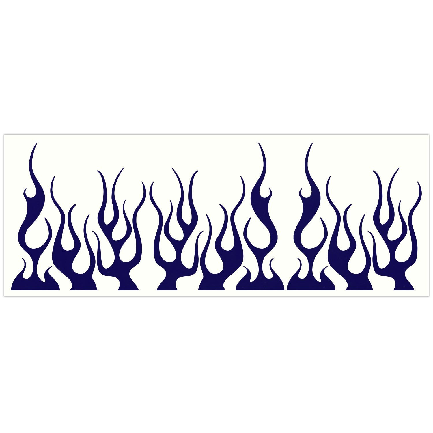 Wheelchairs and More LiteMark Reflective Assorted 4 Inch Flames Sticker Decals for Helmets Strollers Bicycles Pack of 9