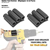 SPIDER Tool Holster Bitgripper V2 - Organize And Carry Drill Bits On Your Drill - Two Pack
