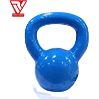 RV Blue Powder Coated Solid Cast Iron Kettlebell Weights