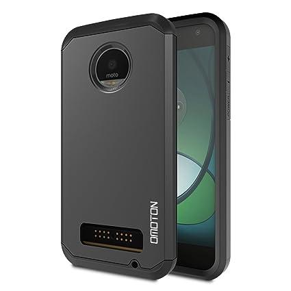 OMOTON Moto Z Play Case   Dual Layer [Soft TPU Interior] [Durable